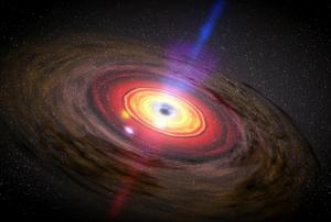 Рисунок аккреционного диска около дыры (space.com)
