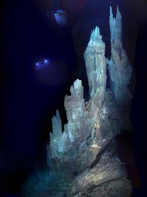 Свежие отложение минералов в гидротермальном источнике (space.com)