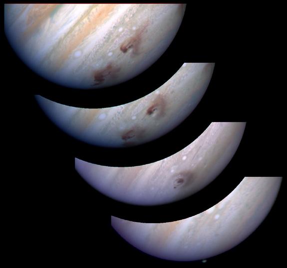 Несколько снимков Юпитера после столкновения (space.com)