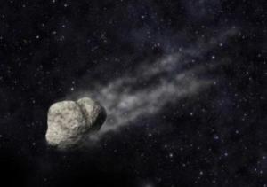Рисунок астероида с хвостом (sciencedaily.com)