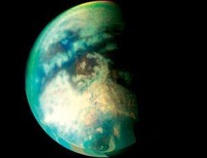 Рисунок шторма на полюсе Титана (newscientist.com)