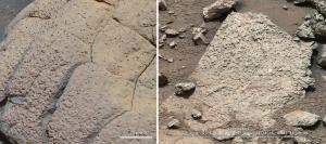 Повернхость Марса на снимках Opportunity и Curiosity (space.com)