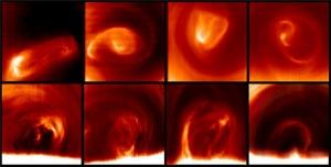 Вихри на южном полюсе Венеры (sciencedaily.com)