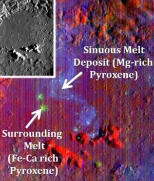 Небольшой разлом в кратере Коперника (brown.edu)