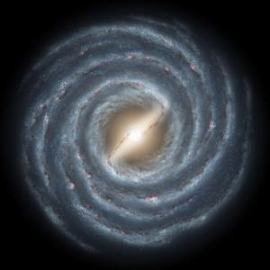 Примерный вид Млечного пути вне плоскости галактики (sciencedaily.com)