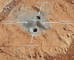 Марс красный только на само верху (sciencedaily.com)