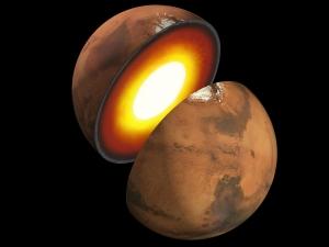 Рисунок внутреннего строения Марса (space.com)