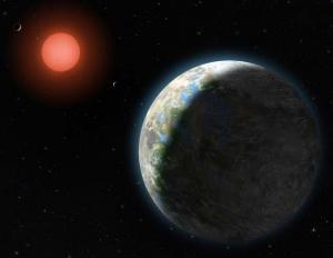 Рисунок планеты около красного карлика (space.com)