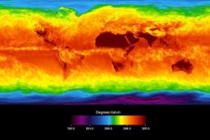 Распределение температур на нашей планете. Тепло явно переносится не очень эффективно (phys.org)
