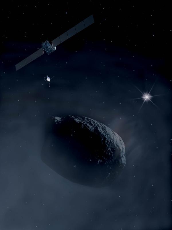 Розетта приближается к комете (рисунок - esa.int)