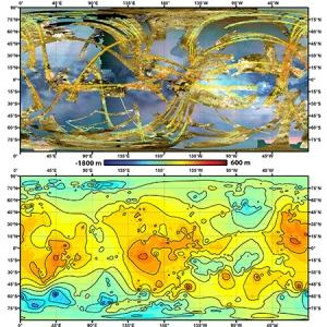 Топографическая карта Титана (jhuapl.edu)