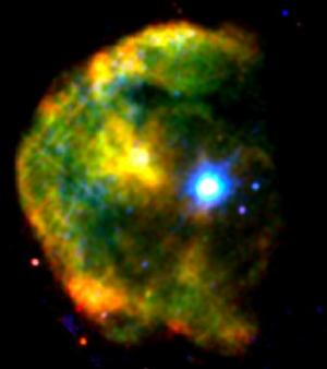 Магнетар 1E 2259+586 внутри остатков сверхновой (nasa.gov)