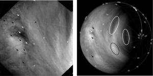 Движение облаков в атмосфере, по которому можно определить скорость ветра (esa.int)