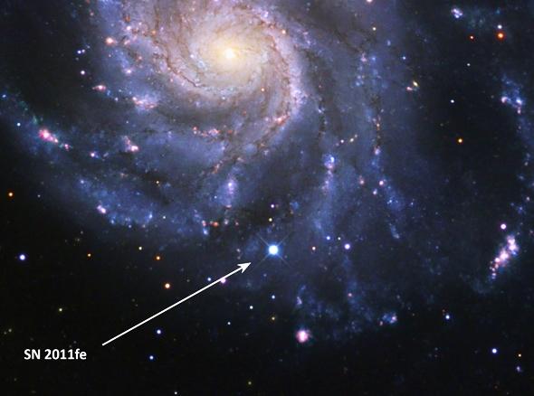 Сверхновая в галактике (lbl.gov/)