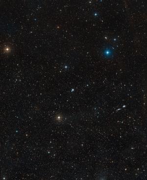 Местоположение активной галактики (eso.org)