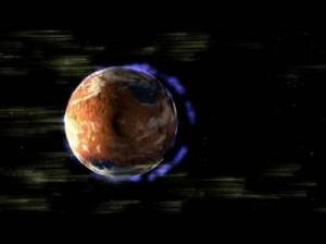Рисунок потери атмосферы планетой (phys.org)