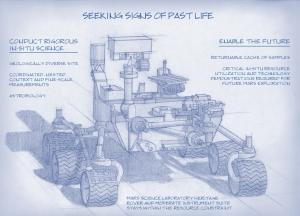 На наброске видно, что внешне новый аппарат очень похож на Curiosity (space.com)