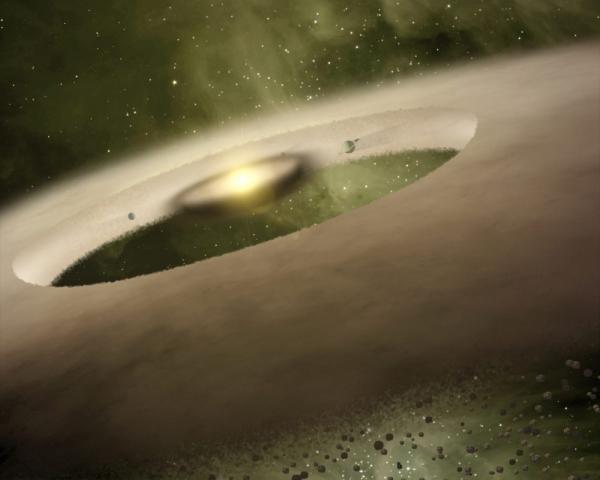Рисунок ранней звездной системы (uchicago.edu)
