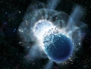 Рисунок столкновения двух нейтронных звезд (cfa.harvard.edu)