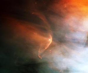 Ударная волна перед молодой звездой в Туманности Ориона (sciencedaily.com)