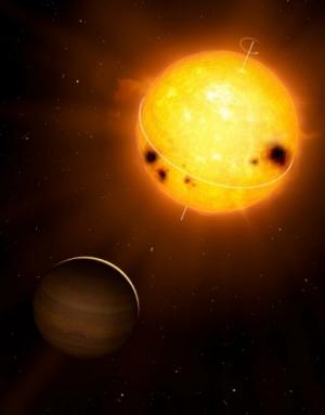 Планета около активной звезды (nyu.edu)