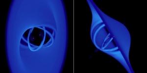 Моделирование пары дыр с наклоненными аккреционными дисками (universetoday.com)