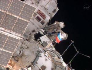 Флаг в космосе (space.com)