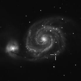 Место взрыва сверхновой (scientificamerican.com)