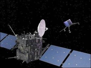 Рисунок Розетты и спускаемого модуля (esa.int)