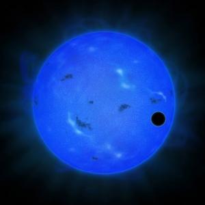 Рисунок планеты, проходящей перед звездой (universetoday.com)
