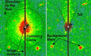 Снимки кометы (nau.edu)