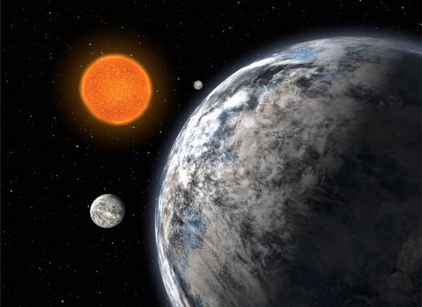 Рисунок трех сверхземель около HD 40307 (space.com)