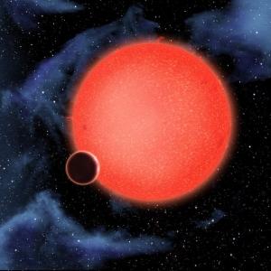 Рисунок GJ 1214b около звезды (space.com)