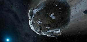 Рисунок богатого водой астероида (cam.ac.uk)