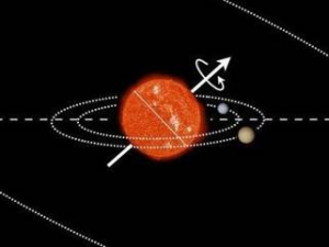 Наклон оси вращения Кеплер-56 (phys.org)