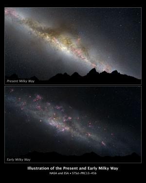 Современный и возможный молодой Млечный пути (nasa.gov)