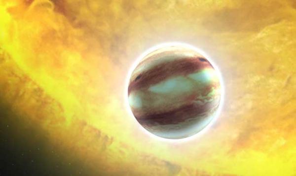 Планета рядом с крупной звездой (phys.org)