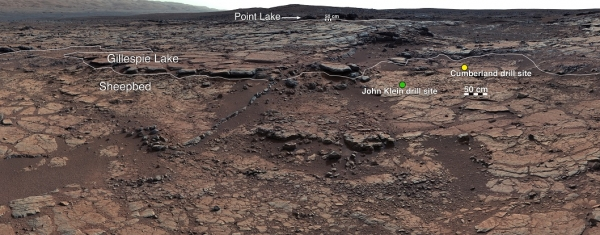 Панорама, сделанная марсоходом (nasa.gov)
