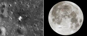 Новый кратер и место его появления (universetoday.com)