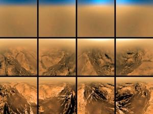 Снимки, сделанные аппаратом Гюйгенс при спуске на Титан (space.com)