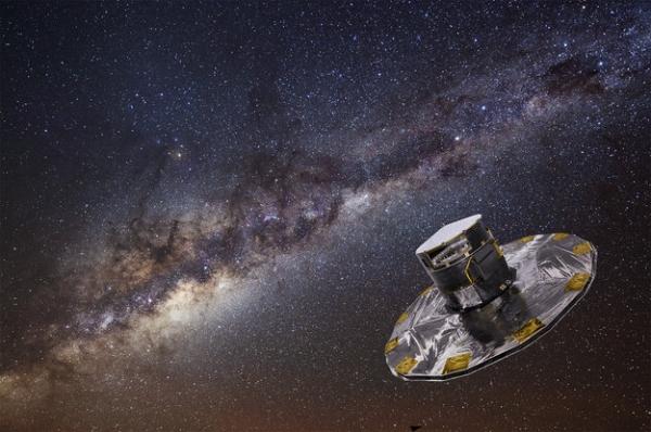 Рисунок телескопа на фоне Млечного пути (esa.int)