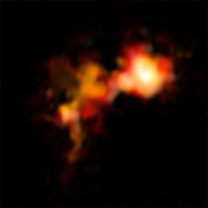 Лишенное звезды холодное облако (nrao.edu)