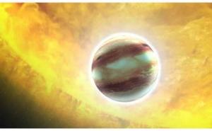Рисунок горячего Юпитера (space.com)