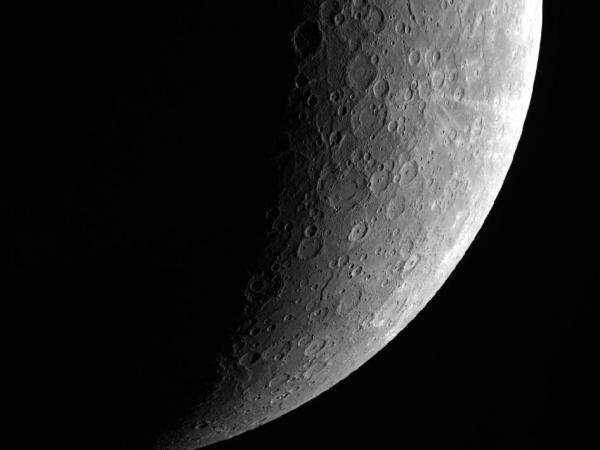 Южное полушарие Меркурия, фото получено Мессенджером (фото - nasa.gov)