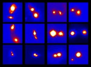 Сталкивающиеся яркие галактики (universetoday.com)
