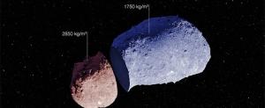 Две части астероида Итокава (eso.org)