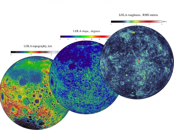 Характеристики поверхности Луны (фото - nasa.gov)