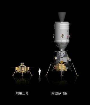 Сравнение Чанъэ-3 и спускаемого модуля Аполлона (universetoday.com)