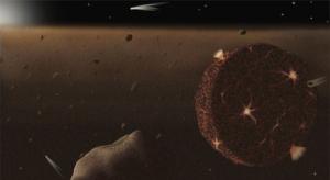 Рисунок бомбардируемой Земли (phys.org)