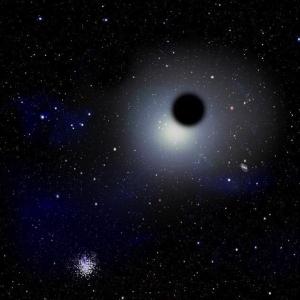 Рисунок блуждающей неподалеку дыры (space.com)